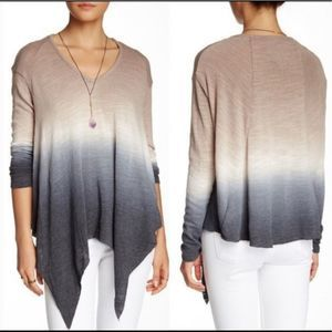 Young fabulous and broke ombré knit long sleeve